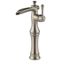 Delta Cassidy 798LF-SS Single Handle Channel Vessel Bathroom Faucet Stainless-Lavatory-HomePlumbing