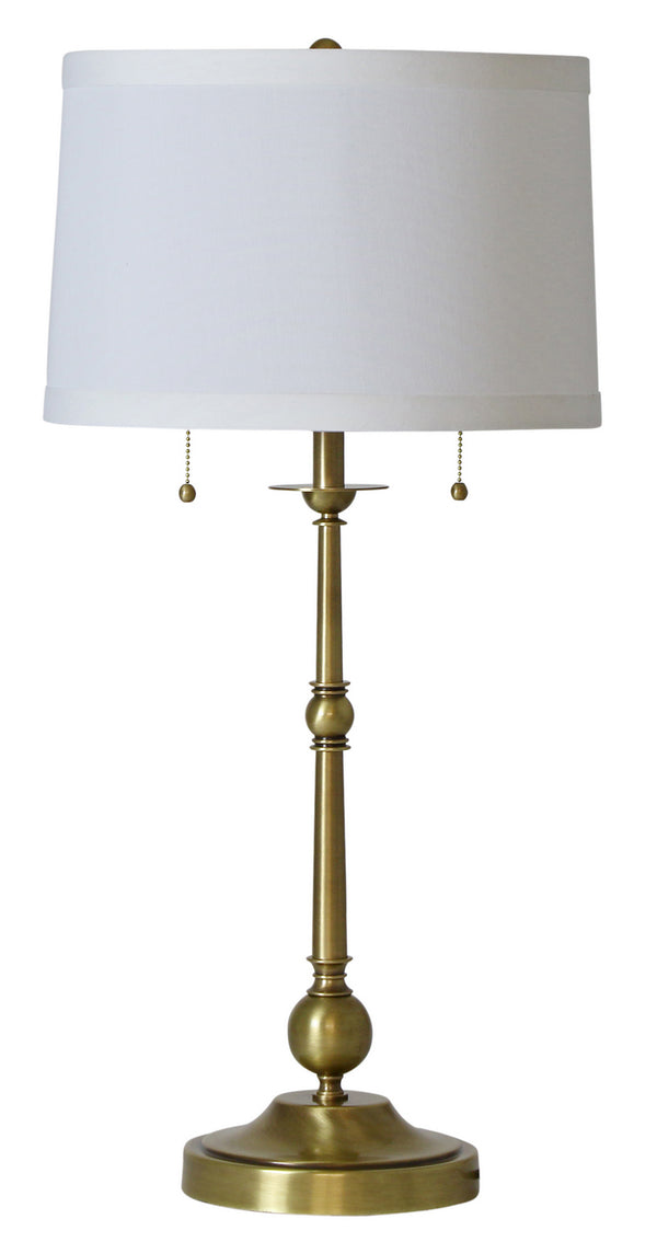 House of Troy E951-AB Two Light Table Lamp-Lamps-HomePlumbing