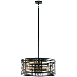 Kichler Four Light Chandelier 44076BK