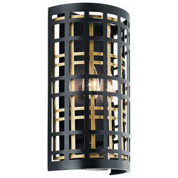 Kichler Two Light Wall Sconce 44079BK