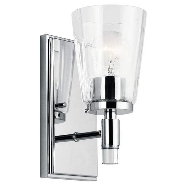 Kichler One Light Wall Sconce 45866CH-Sconces-HomePlumbing