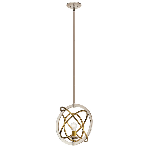 Kichler One Light Pendant 44201PN-Pendants-HomePlumbing
