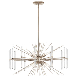 Kichler Eight Light Chandelier 44276PN