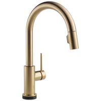 Delta Trinsic 9159T-CZ-DST Single Handle Pull-Down Kitchen Faucet with Touch2O Technology Champagne Bronze-Kitchen-HomePlumbing