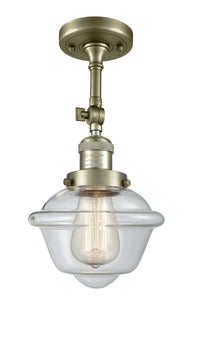 Innovations 201F-AB-G532 One Light Semi-Flush Mount-Semi-Flush Mts.-HomePlumbing