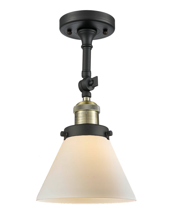 Innovations 201F-BAB-G41 One Light Semi-Flush Mount-Semi-Flush Mts.-HomePlumbing