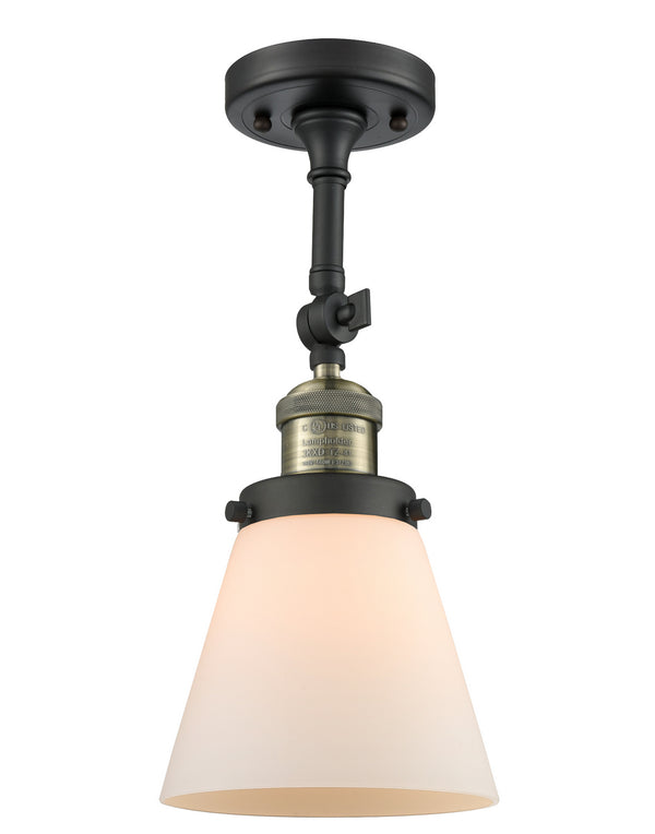Innovations 201F-BAB-G61 One Light Semi-Flush Mount-Semi-Flush Mts.-HomePlumbing