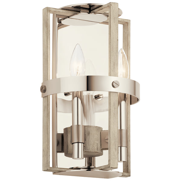 Kichler Two Light Wall Sconce 44292WWW-Sconces-HomePlumbing