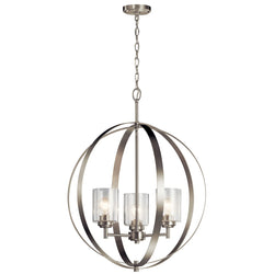 Kichler Three Light Chandelier 44034NI