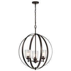 Kichler Three Light Chandelier 44034OZ