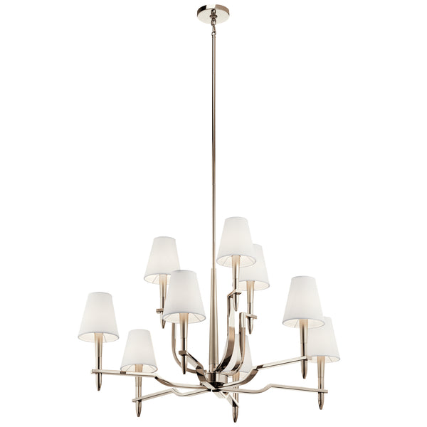 Kichler Nine Light Chandelier 44311PN-Large Chandeliers-HomePlumbing