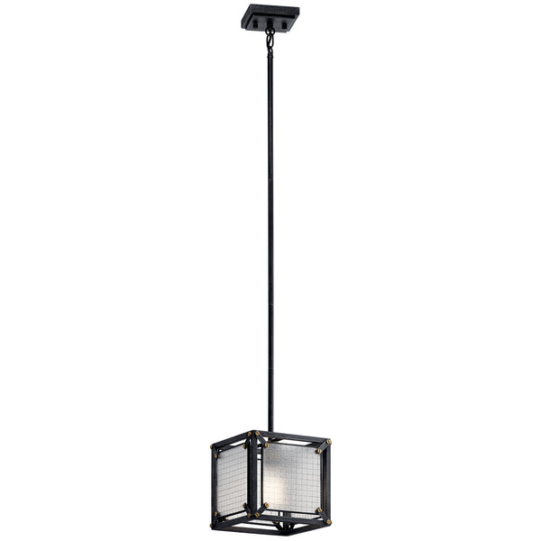 Kichler One Light Mini Pendant 44335DBK-Mini Pendants-HomePlumbing