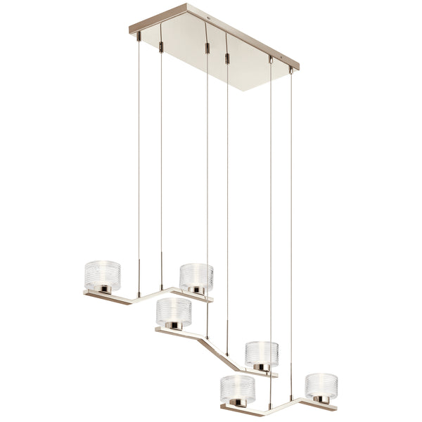 Kichler LED Linear Chandelier 44346PNLED-Island/Pool Table-HomePlumbing