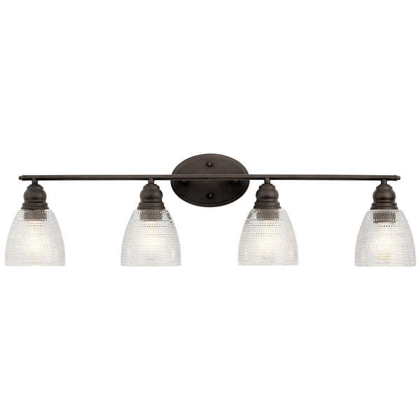 Kichler Four Light Bath 45698OZ-Bathroom Fixtures-HomePlumbing