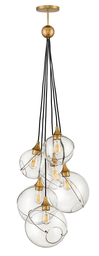 Hinkley 30306HBR Six Light Chandelier-Mini Chandeliers-HomePlumbing