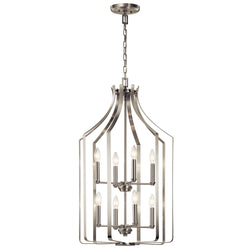 Kichler Eight Light Foyer Chandelier 42498NI