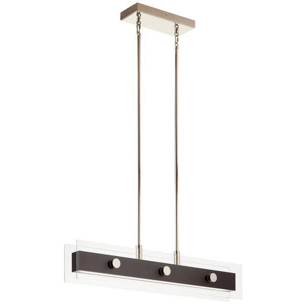 Kichler Five Light Linear Chandelier 44340WNWLED-Island/Pool Table-HomePlumbing