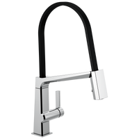 Delta Pivotal 9693-DST Single Handle Exposed Hose Kitchen Faucet Chrome-Kitchen-HomePlumbing