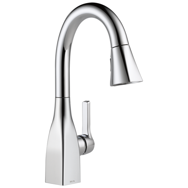 Delta Mateo 9983-DST Single Handle Pull-Down Bar / Prep Faucet Chrome-Kitchen-HomePlumbing