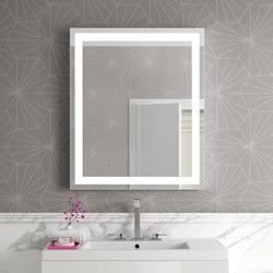 "Afina Illume IL-2430-R Rectangular LED Backlit Mirror Size: 30"" H x 24"" W"