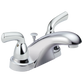 Delta Foundations B2510LF Two Handle Centerset Bathroom Faucet Chrome