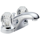 Delta Foundations B2512LF Two Handle Centerset Bathroom Faucet Chrome