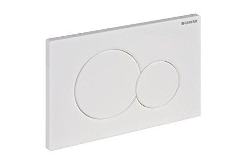 Geberit 115.770.11.5 Actuator plate, 11.610&quotL x 6.890&quotW x 1.770&Quoth, Alpine White-Toilet Actuator-HomePlumbing