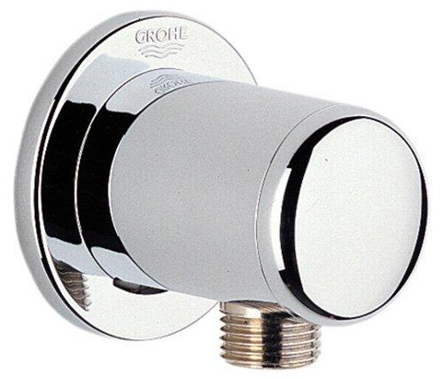 Grohe 28 672 Wall Supply Elbow with 1/2 Inch Threaded Connection, Starlight Chrome-Shower/bath components-HomePlumbing
