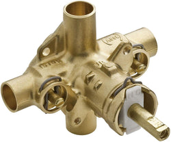 Moen M-Pact Rough-In Posi-Temp Pressure Balancing Cycling 4-Port Tub and Shower Valve with Stops, 1/2-Inch