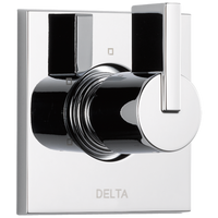 Delta Vero T11853 3-Setting 2-Port Diverter Trim Chrome-Showering Component-HomePlumbing