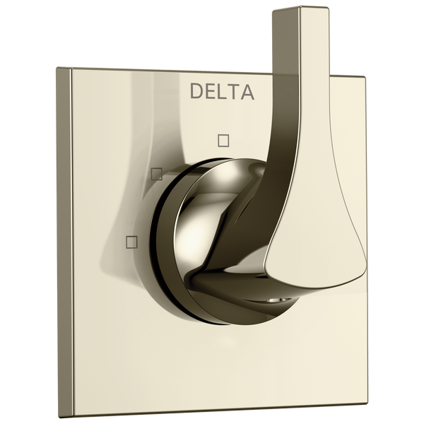 Delta Zura T11874-PN 3-Setting 2-Port Diverter Trim Polished Nickel-Showering Component-HomePlumbing