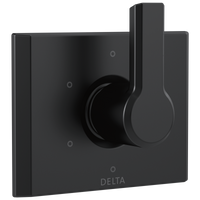 Delta Pivotal T11999-BL 6-Setting 3-Port Diverter Trim Matte Black-Showering Component-HomePlumbing