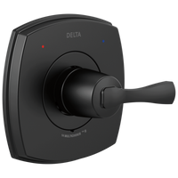 Delta Stryke T14076-BL 14 Series Valve Only Matte Black-Tub / Shower-HomePlumbing