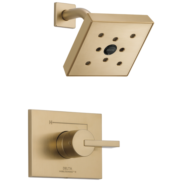 Delta Vero T14253-CZH2O Monitor 14 Series H2Okinetic Shower Trim Champagne Bronze-Tub / Shower-HomePlumbing
