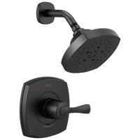Delta Stryke T14276-BL 14 Series Shower Only Matte Black-Tub / Shower-HomePlumbing