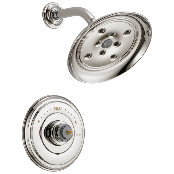 Delta Cassidy T14297-PNLHP Monitor 14 Series H2Okinetic Shower Trim - Less Handle Polished Nickel-Tub / Shower-HomePlumbing