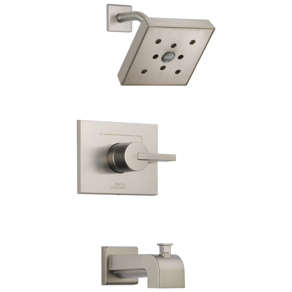 Delta Vero T14453-SSH2O Monitor 14 Series H2Okinetic Tub & Shower Trim Stainless-Tub / Shower-HomePlumbing