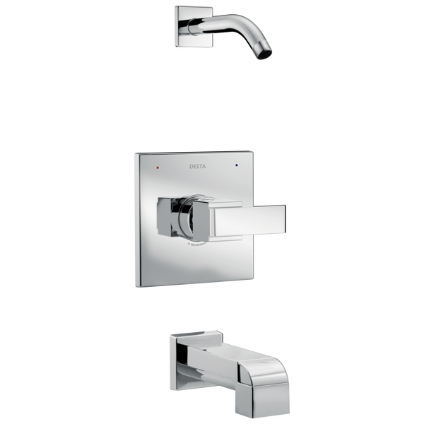 Delta Ara T14467-LHD Monitor 14 Series Tub & Shower Trim - Less Head Chrome-Tub / Shower-HomePlumbing