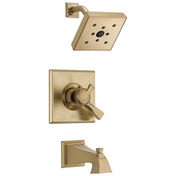 Delta Dryden T17451-CZH2O Monitor 17 Series H2Okinetic Tub & Shower Trim Champagne Bronze-Tub / Shower-HomePlumbing