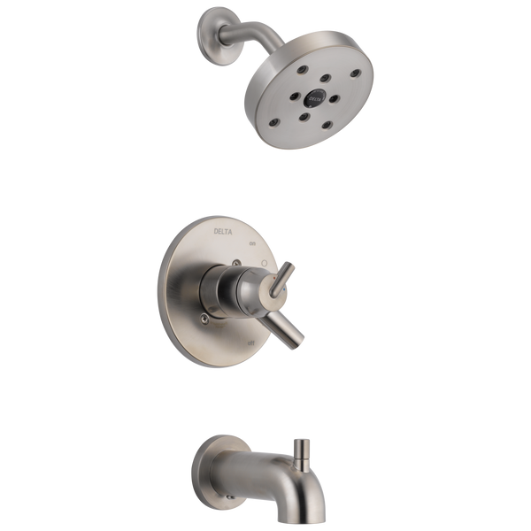Delta Trinsic T17459-SS Monitor 17 Series H2Okinetic Tub & Shower Trim Stainless-Tub / Shower-HomePlumbing