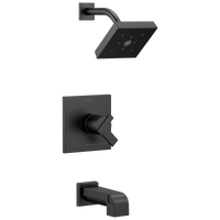 Delta Ara T17467-BL Monitor 17 Series H2Okinetic Tub & Shower Trim Matte Black-Tub / Shower-HomePlumbing