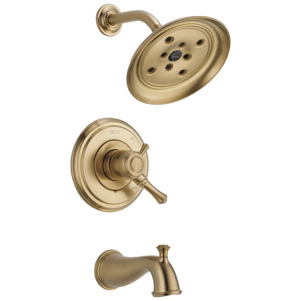 Delta Cassidy T17497-CZ Monitor 17 Series H2Okinetic Tub & Shower Trim Champagne Bronze-Tub / Shower-HomePlumbing