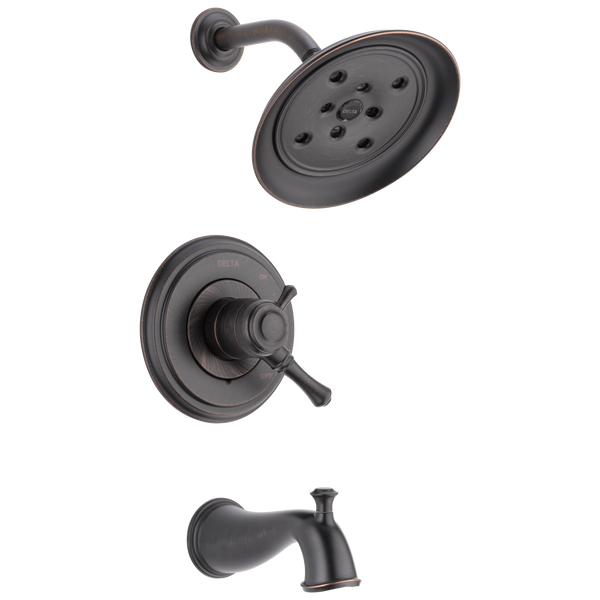 Delta Cassidy T17497-RB Monitor 17 Series H2Okinetic Tub & Shower Trim Venetian Bronze-Tub / Shower-HomePlumbing