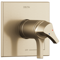 Delta Zura T17T074-CZ TempAssure 17T Series Valve Only Trim Champagne Bronze-Tub / Shower-HomePlumbing