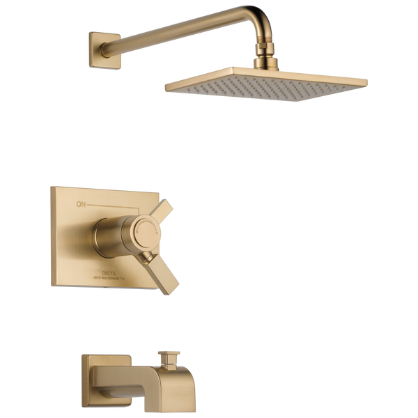 Delta Vero T17T453-CZ TempAssure 17T Series Tub & Shower Trim Champagne Bronze-Tub / Shower-HomePlumbing