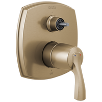 Delta Stryke T24876-CZLHP 14 Series Integrated Diverter Trim with Three Function Diverter Less Diverter Handle Champagne Bronze-Tub / Shower-HomePlumbing