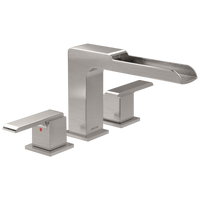 Delta Ara T2768-SS Channel Roman Tub Trim Stainless-Tub Filler-HomePlumbing