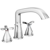 Delta Stryke T27766 Three Hole Roman Tub Trim Chrome-Tub Filler-HomePlumbing