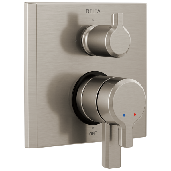 Delta Pivotal T27899-SS 17 Series Integrated Diverter Trim - 3 Function Diverter Stainless-Showering Component-HomePlumbing