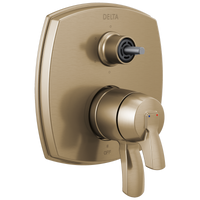 Delta Stryke T27976-CZLHP 17 Series Integrated Diverter Trim with Six Function Diverter Less Diverter Handle Champagne Bronze-Tub / Shower-HomePlumbing